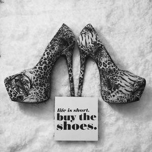 Alba Tiger print heels
